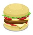 Hamburger color vector image vector image