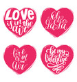 hand lettering phrases love is in air vector image