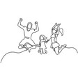 happy family jumping vector image vector image