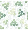 hexagon triangle flower vector image vector image
