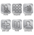 icon telephone vector image