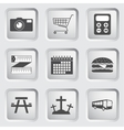 icons on buttons for web design set 3 vector image