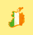 ireland - map colored with irish flag vector image vector image