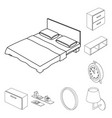 isolated object of bedroom and room symbol vector image vector image