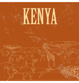 Kenya Retro styled image vector image vector image