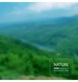 Landscape blurred photo background vector image vector image