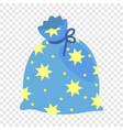 magic star bag icon flat style vector image vector image
