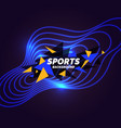 modern colored poster for sports neon glow vector image vector image