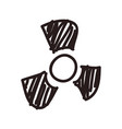 nuclear symbol doodle vector image