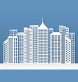 paper city skyline urban origami cityscape vector image vector image