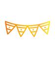 pennants decoration celebration festive gradient vector image vector image