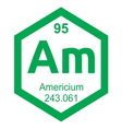 Periodic table americium vector image vector image