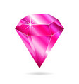 pink gemstone vector image vector image