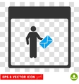 Postman Calendar Page Eps Icon vector image