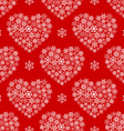 Red seamless pattern with hearts made of vector image vector image
