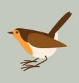 robin bird flat styleprofile vector image vector image