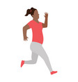 running women in flat design style sport vector image vector image