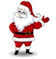santa claus cartoon for you design vector image