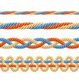 Seamless set of rope elements vector image