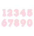 Set of birthday candles Number shapes vector image