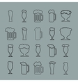Set of twenty beer glass vector image