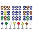 sign collection vector image vector image