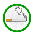 smoking area sign on white background - sign vector image vector image