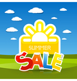 Summer Sale Title vector image