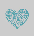Symbol heart of carpentry tools Logo for carpentry vector image vector image