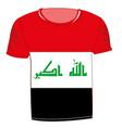 t-shirt flag iraq vector image