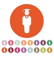 The student boy icon School and academy college vector image