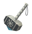 Thors hammer with Celtic symbol closeup vector image vector image