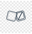 towel concept linear icon isolated on transparent vector image