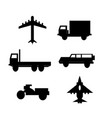 vehicle and transportation vector image vector image