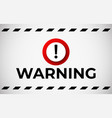 warning attention banner vector image vector image