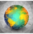 World globe triangle design vector image