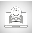 learn online book apple design vector image