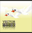 Swan flying vector image