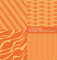 4 pattern orange abstract line vector image vector image