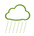 A Four Leaf Clover of Cloud Icon with Love Rain vector image