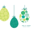 abstract green circles hanging Easter eggs vector image vector image