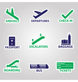 airport signs stickers eps10 vector image vector image