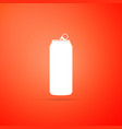 aluminum can icon isolated on orange background vector image vector image