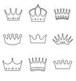 basic Crown icons design vector image