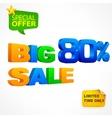 Big sale inscription 80 vector image