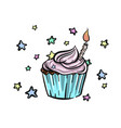 bithday cupcake vector image