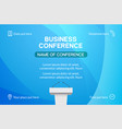 business conference simple template invitation vector image vector image