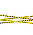 caution warning lines danger signs isolated vector image