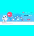 chatbot robot speech bubble arabic people avatar vector image vector image