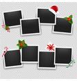 christmas photo frame set vector image vector image